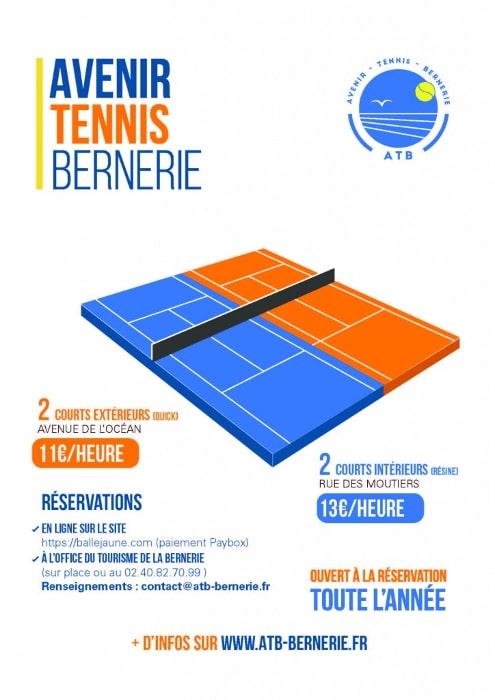 Avenir Tennis Bernerie : réserver un court