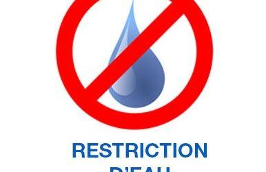 Restriction eau – Sècheresse