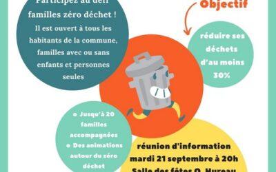 """Réunion """"Défi familles zéro déchet"""""""